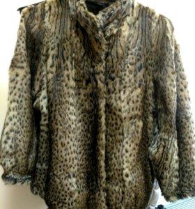 Шуба из оцелота (карликовый леопард)