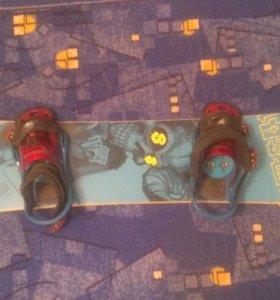 Сноуборд Step Child 155см. с крепами Burton custom