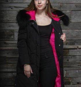 Новое длинное зимнее пальто, последний размер