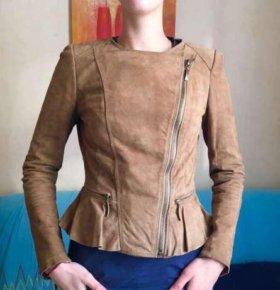 Куртка замшевая zara
