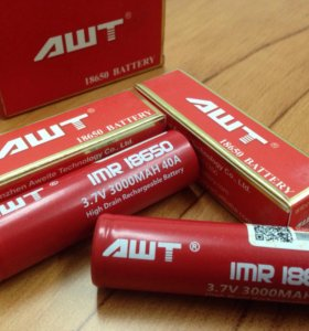 Аккумуляторы AWT 18650 3000mah 40A