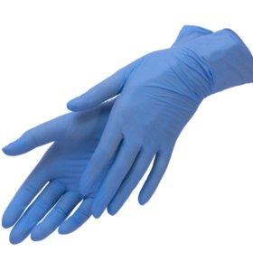 """Перчатки нитриловые голубые """"SITEK MED"""" 100 шт.  Р"""