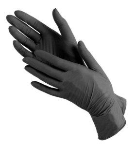 """Перчатки нитриловые черные"""" BENOVY"""" 100шт.  Размер"""