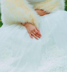 Свадебная шубка-накидка