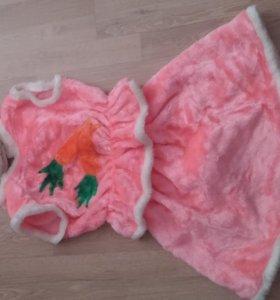 Плюшевый костюм для девочки