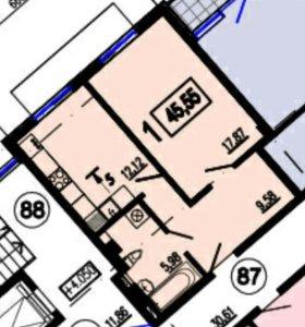 1-комнатная квартира 45 кв.м. 3/6 в ЖК Лагуна