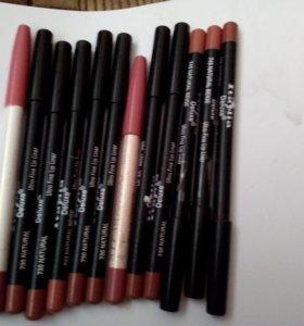 Матовые карандаши для губ и бровей
