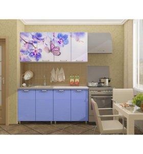 Новая кухня 1.6 м МДФ с фотопечатью Бабочки