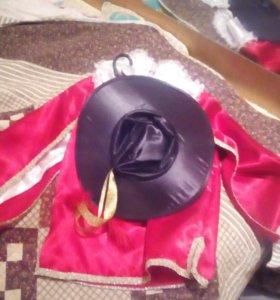 Новогодний костюм ( мушкетера) на 6-7 лет