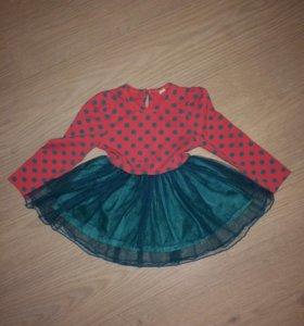 Платье с юбкой пачкой праздничное на НГ