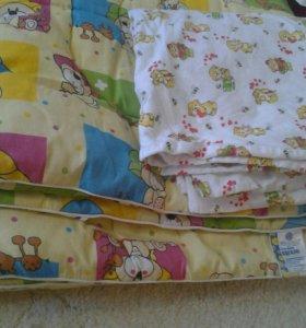 Одеяло с пододеяльником.Детское