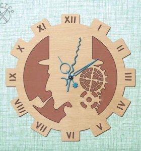 Часы из дерева настенные (Шерлок)