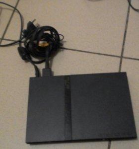 Play Station 2 + 5 дисков + 2 джойстика