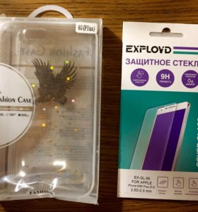 Бампер и стекло для iPhone 6S plus