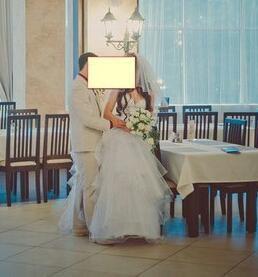 Свадебное платье с камнями Сваровски+фата
