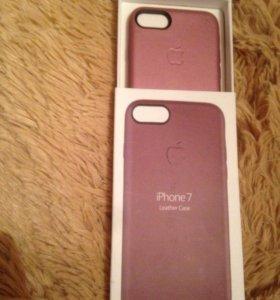 Кожаный чехол iPhone 7