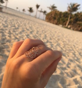 Золотое кольцо 750 с бриллиантами