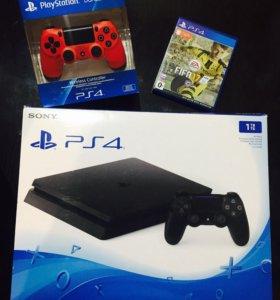 Sony PlayStation 4 slim 1000 гб.+ Гейпад+FIFA2017
