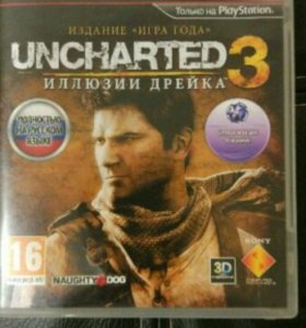 Uncharted 3 PS3 диск