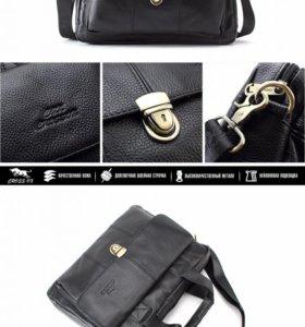 Мужская кожаная стильная сумка новая