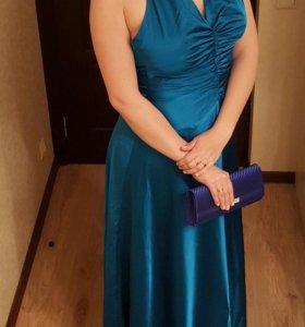 Вечернее платье в пол Tom klaim, клатч и туфли