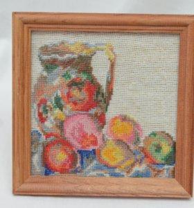 Картина, вышитый фрагмент картины Поля Сезанна!
