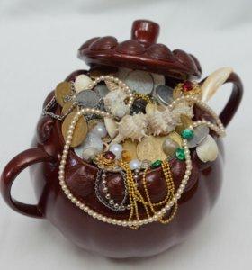 Декоративная вазочка! Подарок ручной работы!