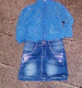 Юбка джинсовая