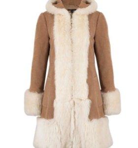 Пальто весеннее Marc jacobs с мехом