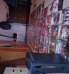 Xbox360 2 геймпада,90 игр
