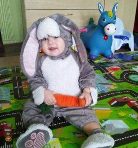 Новогодний костюм на малыша,Зайка