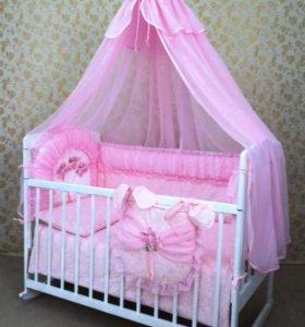Кроватка+комплект срочно