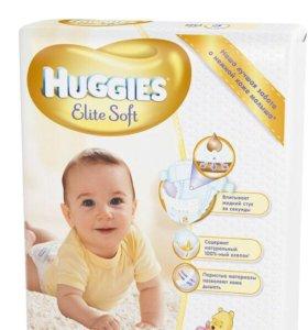 Подгузники Huggies elite soft 1,2,3,4