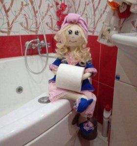 Кукла держатель туалетной бумаги и полотенец.