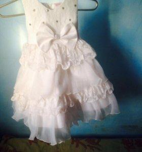 Детское платье для девочки +балеро  2,5-3 лет
