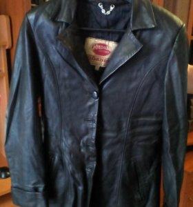 Куртка френч кожаная р. 42