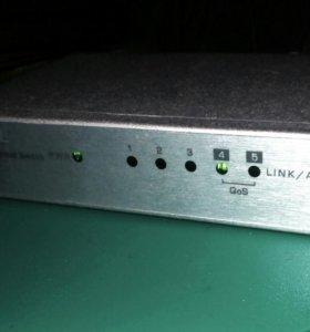 Сетевой коммутатор 5 портовый, ZyXEL ES-105A