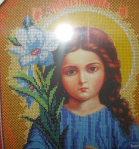 """Вышивка бисером. """"Богородица Трилетствующая"""""""