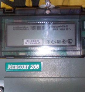 Меркурий 200.02 счётчик электричеств
