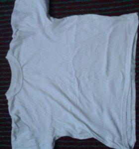 Белая футболка, спортивная