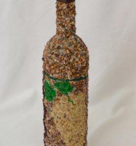 Бутылка декорированная горными кристалами