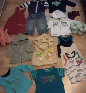 Пакет одежды на мальчика 6-18мес