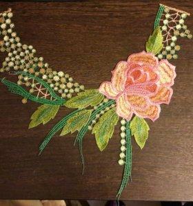 """Нашивка """"цветы"""",вышивка"""