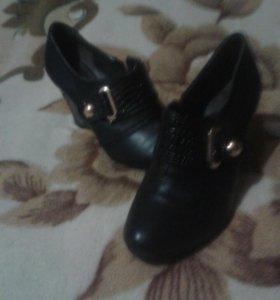 Туфли вида ботфорт.