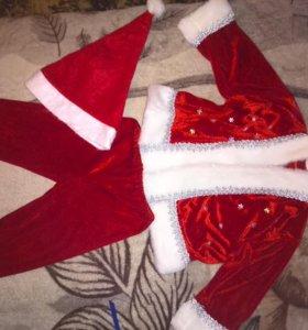 Новогодний костюм Деда Мороза (Санта Клауса)р.110