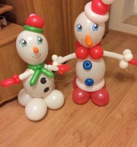 Снеговики из шариков