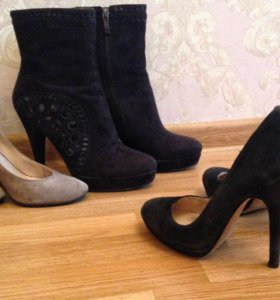 2е пары👠👠замшевых туфель