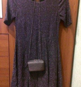 Новое фирменное платье и клатч манго