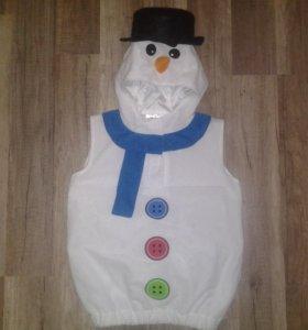 Карнавальный костюм Снеговик 98 см.