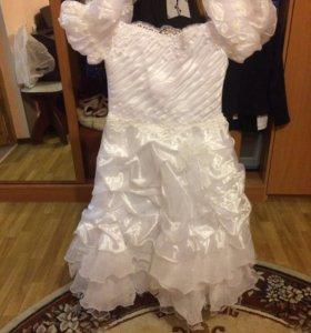Платье в пол, подъюбник в подарок